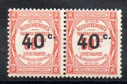 FRANCE - YT N° 50 Paire - Neufs ** - MNH - Cote: 60,00 € - Taxes