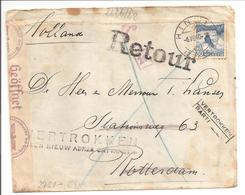 Bombardement Rotterdam Mei 1940.Stationsweg.Vertrokken Zonder Nieuw Adres!!! 2x OKW Zensur Schweiz - Brieven En Documenten