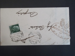 REGNO ITALIA BIGLIETTI CON OVALE DI FRANCHIGIA COMUNALE PALMI REGIE POSTE 1934 - 1900-44 Victor Emmanuel III