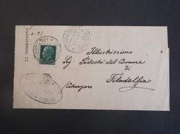 REGNO ITALIA BIGLIETTI CON OVALE DI FRANCHIGIA COMUNALE SENERIA SIMERI REGIE POSTE 1931 - Franchigia