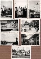 8 Photos Originales Exposition Universelle Paris 1937, Pavillon Allemand à L'Aigle & Belge, La Seine & Exposition - Lieux