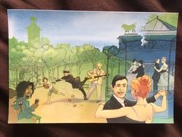 Carte Postale : Brel Et Brassens Au Parc Georges Brassens (Paris) - Parcs, Jardins