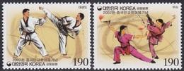 South Korea KPCC1771-2 China Joint Issue, Martial Arts, Taekwondo, Kung Fu, Emission Commune - Emissions Communes