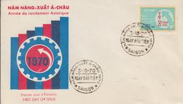 Enveloppe  FDC   1er  Jour   VIETNAM   Année  De  La  Production  Asiatique   1970 - Viêt-Nam