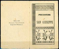 °°° Santino - Preghiera A S. Giuseppe Pisa 1902 °°° - Pisa