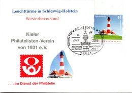 "BRD Schmuck-FDC ""Leuchttürme: Westerheversand"" Mi 2474 ESSt 7.7.2005 BRUNDBÜTTEL - [7] République Fédérale"