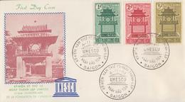 Enveloppe  FDC  1er  Jour   VIETNAM   15éme  Anniversaire  De  L' UNESCO  1961 - Viêt-Nam