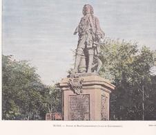 """ILE De LA REUNION - Gravure - SAINT-DENIS - Statue Mahé Labourdonnais - Gravée Et Imprimée Par """" GILLOT """" - Voir Descri - Saint Denis"""