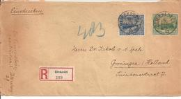 Einschreiben Blieskastel Mi 192 & 193 !!! >Metz Moselle>Groningen LB 15 1923 - 1920-35 Saargebiet – Abstimmungsgebiet