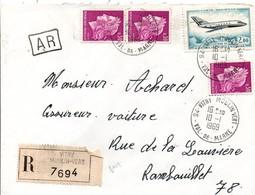 Vitry Moulin Vert 1969 - Lettre Recommandée Avec étiquette - 1961-....