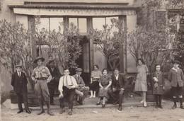 TRES BELLE CARTE PHOTO / DEVANTURE BAR / SCOUT EN TENUE / A SITUER - Cafés