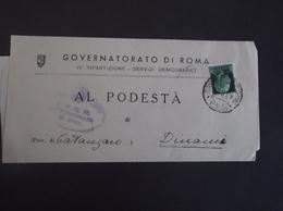 REGNO ITALIA BIGLIETTI CON OVALE DI FRANCHIGIA COMUNALE ROMA REGIE POSTE 1928 - 1900-44 Vittorio Emanuele III