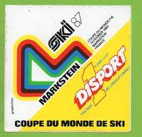 COUPE DU MONDE DE SKI MARKSTEIN 1987 ► AUTOCOLLANT 845 ► - Autocollants