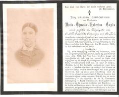 Faire-part Décès Mlle Maria COPIS Le 25/10/1888 - TONGEREN - Drukkerij Collée. - Décès