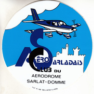 Thematiques Aviation Autocollant Sticker Aero Club Sarladais Aerodrome Sarlat Domme - Autocollants