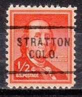 USA Precancel Vorausentwertung Preo, Locals Colorado, Stratton 703 - Vereinigte Staaten