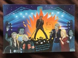 Carte Postale : Johnny Hallyday En Duo Avec Renaud Et France Gall à Bercy (hommage à Coluche Et Michel Berger) - France