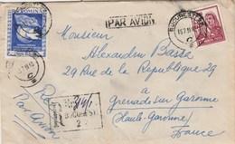 Roumanie Lettre Recommandée BUCURESTI 15/71955 Pour Grenade Haute Garonne France - Oiseau - Lettres & Documents