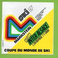 COUPE DU MONDE DE SKI MARKSTEIN 1987 ► AUTOCOLLANT 846 ► - Autocollants