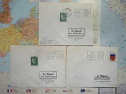 3 Flammes Gap Hautes-Alpes Semaine Fédérale De Cyclotourisme Championnat Du Monde De Boules 1967/ De F. Cyclisme Prof. - Marcophilie (Lettres)