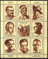 Yugoslavia,Famous Personalities 1999.,mini Sheet,MNH - 1992-2003 République Fédérale De Yougoslavie