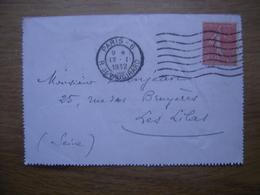 1932 Correspondance Sujet Notaire DANJEAN Cachet Paris - Marcophilie (Lettres)