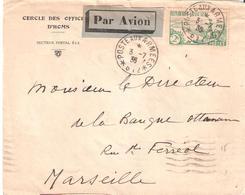 Occupation Du Levant :- POSTE AUX ARMEES * 612 * Sur Lettre De HOMS Par Avion Affranchie Avec 2 F. RIVIERE BRETONNE - Marcophilie (Lettres)