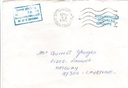 Cayenne RP 1984 - Guyane - Lettre En Franchise Sécurité Sociale - Guyane Française (1886-1949)