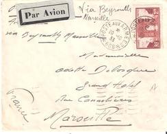 Occupation Du Levant :- POSTE AUX ARMEES * 606 * Sur Lettre Par Avion Affranchie Avec 2 F. ARC DE TRIOMPHE - Marcophilie (Lettres)