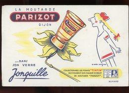 BUVARD:  MOUTARDE PARIZOT, VERRE JONQUILE - FORMAT  13,5X21 Cm - Food