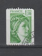 FRANCE / 1979 / Y&T N° 2062 : Sabine 1F10 Vert (de Roulette) - 2ème Choix (dentelure Haut) - Cachet Rond - France