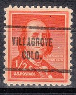 USA Precancel Vorausentwertung Preo, Locals Colorado, Villagrove 713 - Vereinigte Staaten