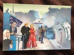 Carte Postale : En Attente Du Dernier Métro (S. Gainsbourg, C. Deneuve, G. Depardieu Et F. Gall) - Métro Parisien, Gares