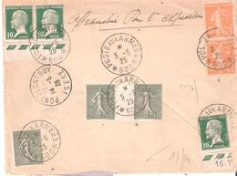 Occupation Du Levant :- POSTE AUX ARMEES * 600 * Sur Lettre Recommandée - Marcophilie (Lettres)