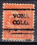 USA Precancel Vorausentwertung Preo, Locals Colorado, Vona 708 - Vereinigte Staaten