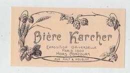Publicité Bière Karcher Pur Malt Houblon - Publicités