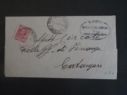 REGNO ITALIA BIGLIETTI CON OVALE DI FRANCHIGIA COMUNALE SENZEGLIANA CALABRO  REGIE POSTE 1916 - Franchigia