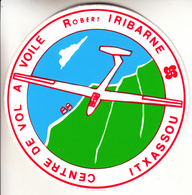 Thematiques Aviation Autocollant Sticker Centre De Vol A Voile Robert Iribarne Itxassou Planeur - Aufkleber