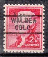 USA Precancel Vorausentwertung Preo, Locals Colorado, Walden 729 - Vereinigte Staaten