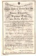 Faire-part Décès Dame Jeanne Baronne OSY Née Della Faille Anvers 23/12/1857 - Décès