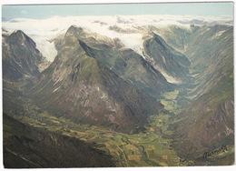 Parti Fra Fjaerland, Sogn, Med Jostedalsbreen - Jostedal Glacier, Sogn - (Norge - Norway) - Norvegia