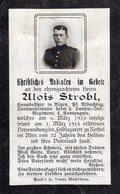 Ardennes. 1915. RETHEL Sterbebild Avis Décès Soldat Allemand - 1914-18