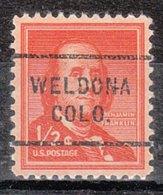 USA Precancel Vorausentwertung Preo, Locals Colorado, Weldona 712 - Vereinigte Staaten