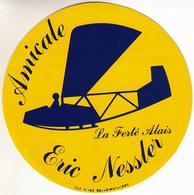 Thematiques Aviation Autocollant Sticker Amicale Eric Nessler La Ferté Alais Avion - Aufkleber