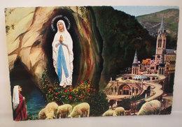 Lourdes Grotta Apparizione Basilica Cartolina - Luoghi Santi