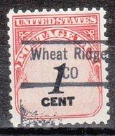 USA Precancel Vorausentwertung Preo, Locals Colorado, Wheat Ridge 843 - Vereinigte Staaten