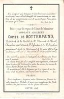 Faire-part Décès Mr. Modeste Adalbert Comte De ROTTERMUND - Tirlemont 20/5/1861 - Décès