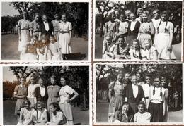 4 Photos Originales Jeunes Adolescentes Allemandes Vers 1930/40 - Bund Deutscher Mädel Ou Jungmädelbund III Reich - Personnes Anonymes