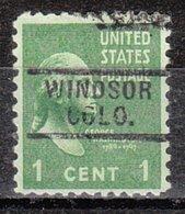 USA Precancel Vorausentwertung Preo, Locals Colorado, Windsor 729 - Vereinigte Staaten