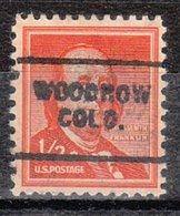 USA Precancel Vorausentwertung Preo, Locals Colorado, Woodrow 703 - Vereinigte Staaten